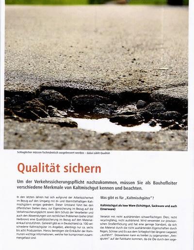 Sachverständigen Interview 2016 STEININGER Im Fachmagazin DER BAUHOFSLEITER 3