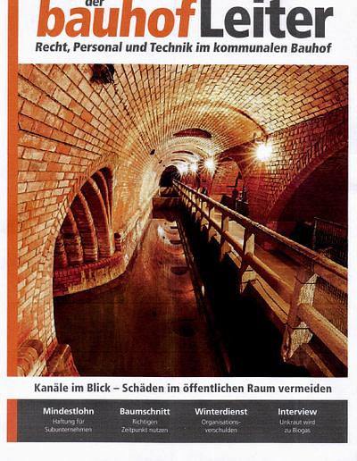 Sachverständigen Interview 2016 STEININGER Im Fachmagazin DER BAUHOFSLEITER 1